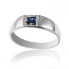 Золотое кольцо с сапфиром «Демиэн»