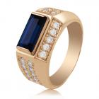 Золотой перстень с сапфиром - 3 Карата