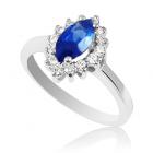 Кольцо с сапфиром и бриллиантами «Adelasia»