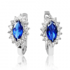 Сережки з сапфірами і діамантами «Adelasia»