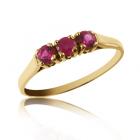 Перстень золотий з рубінами