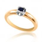 Золотое кольцо с сапфиром «Поцелуй»