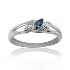 Золотое кольцо с топазом «Маркизе»