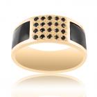 Мужское кольцо с чёрными  бриллиантами