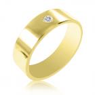 Золота обручка з діамантом «Єдність»