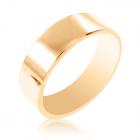 Золота обручка гладенька без каміння «Єдність»