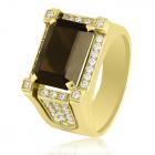 Золотой перстень с раухтопазом - 3 Карата