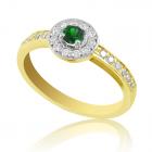Кольцо с изумрудом и бриллиантами «Гиза»