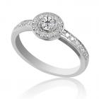 Золотое кольцо на помолвку бриллиантами «Гиза»