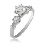 Золотое кольцо с крупным бриллиантом «Paris»