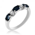 Золотое кольцо-дорожка с сапфирами и бриллиантами