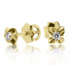 Золотые серьги с бриллиантами «Diane»