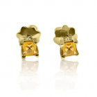 Золотые серьги с цитринами «Гармония»