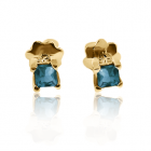 Золотые серьги с топазом «Гармония»