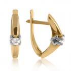 Золоті сережки з дорогоцінним камінням «Доля»