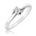 Золотое кольцо с бриллиантом 0.1 ct «Delight»