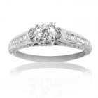 Золоте кільце з діамантами «Царівна Лія»