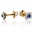 Золотые серьги с сапфирами «Pret-a-porte»