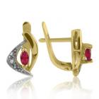 Золоті сережки з рубінами «Аліша »