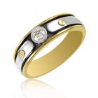 Золотой мужской перстень бриллиантом