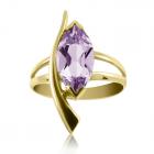 Золотое кольцо с аметистом «Стрела Амура»