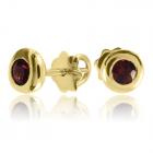 Золоті сережки з гранатом «Солодка ягода»