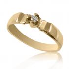 Золотое кольцо с бриллиантом «Джейми»