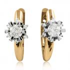 Золоті сережки з крупними діамантами «Flora-2»