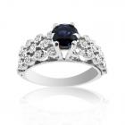 Золотое кольцо с бриллиантами и сапфиром «Созвездие»