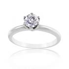Класична заручальна каблучка з діамантом «Нове сузір'я»