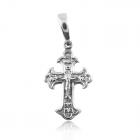 Золотой женский крестик без вставок с распятием