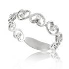Золота каблучка з діамантами «Неповторна»
