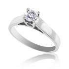 Помолвочное кольцо с бриллиантом «Золотой соблазн»