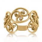 Золотое кольцо с бриллиантами «Уникальная»