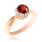 Золотое кольцо с гранатами «Gioiello della Natura»