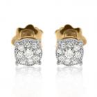 Золотые сережки с кубическим цирконием «Иланна»