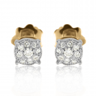 Золотые сережки с бриллиантами «Иланна»