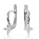 Золотые серьги с бриллиантами 0,20 Ct «Грета»