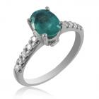 Золотое кольцо с изумрудом «Сказка»