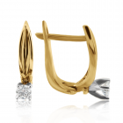 Золоті сережки з діамантами 0,22 Ct «Маргарет»