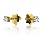 Золотые пусеты с бриллиантами «Жажда любви»
