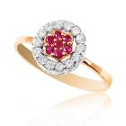 Золотое кольцо с фианитами «Космея»