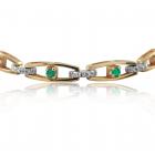 Золотий браслет з смарагдами «Emerald Eyes»