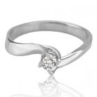 Золота заручальна каблучка з діамантом 0.20 сt «Франческа»