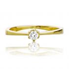 Каблучка на заручини з діамантом 0.11 ct «Міліца»