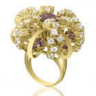 Золотое кольцо с аметистом «Санта Лючия»