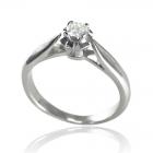 Золота каблучка з діамантом «Собі коханій»