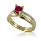 Золотое кольцо с рубином «Предложение»