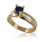 Золотое кольцо с сафиром «Предложение»