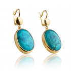 Золоті сережки з бірюзою «Лавіка - Бірюза»